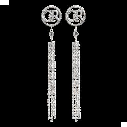 Logo dangle earrings