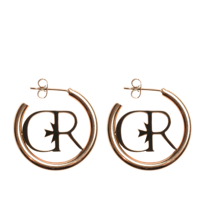 Logo tube hoop earring