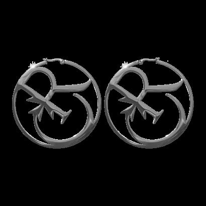 Hoop twisted earrings cr logo