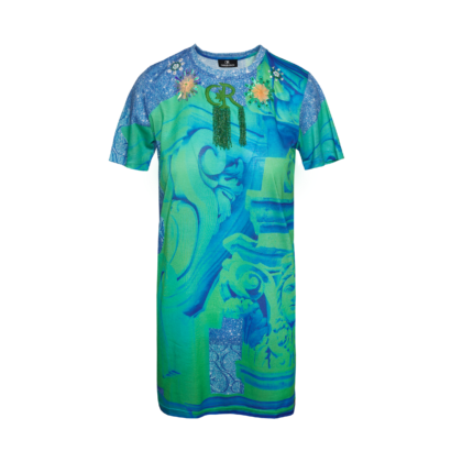 T-shirt dress architecture print