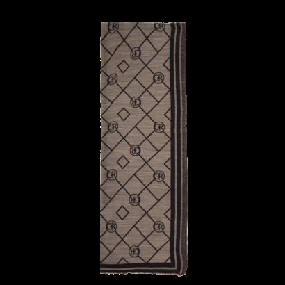 Silk/kashmir scarf logo