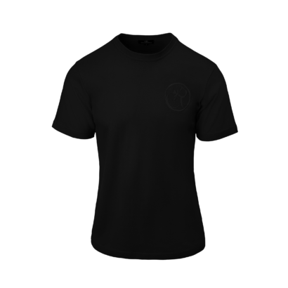 T-shirt embroidered twisted logo