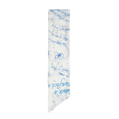 Chiffon necktie poetry print