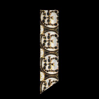 Chiffon necktie earrings print