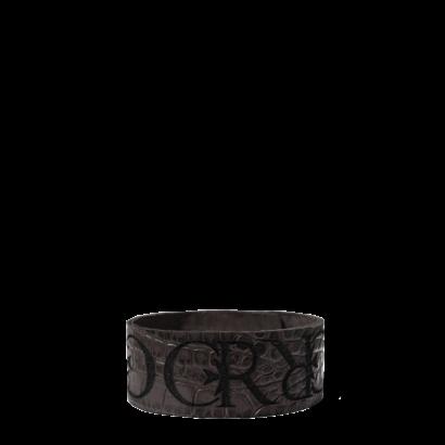 Leather logo bracelet