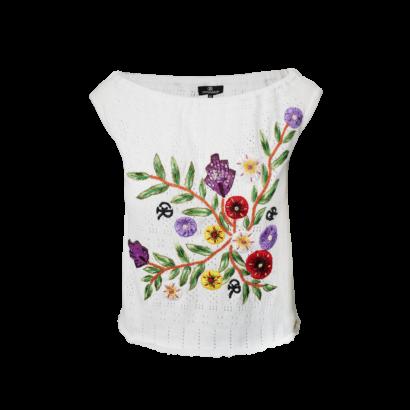 Farah knit top white