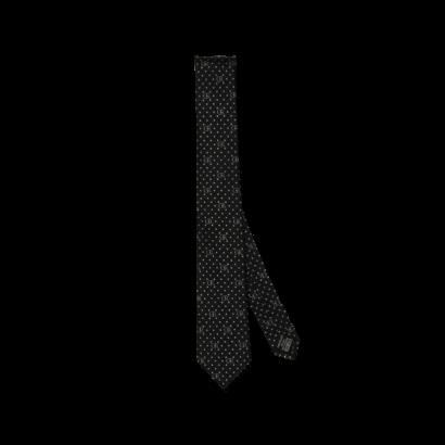Silk jacquard tie logo/dots