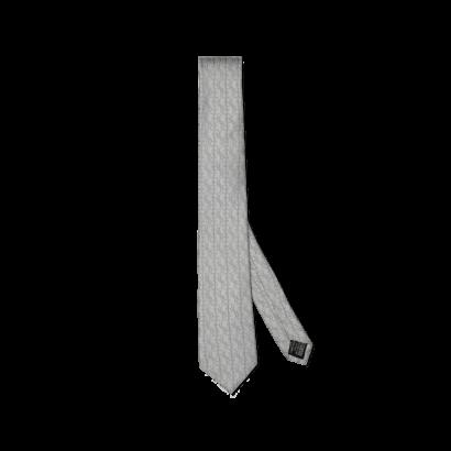 Silk jacquard tie all over small logo