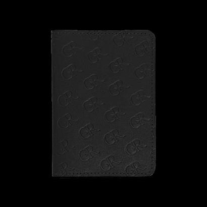 Passport cover embossed logo