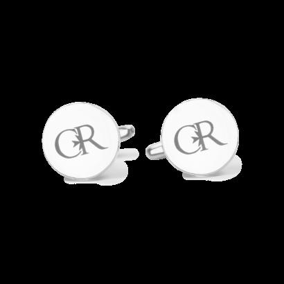 Round classic logo cufflinks
