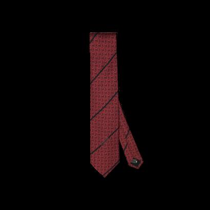 Silk twill tie logo allover