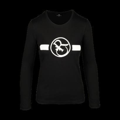 Long sleeve t-shirt twisted logo beaded