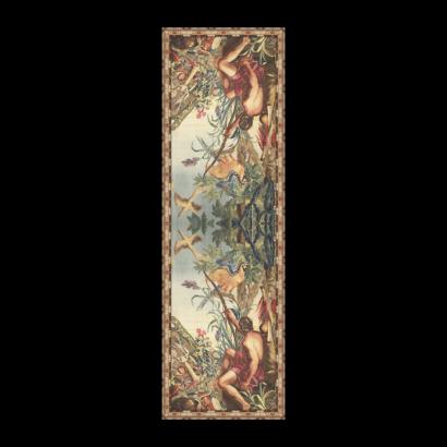 Chiffon scarf hunter tapestry print